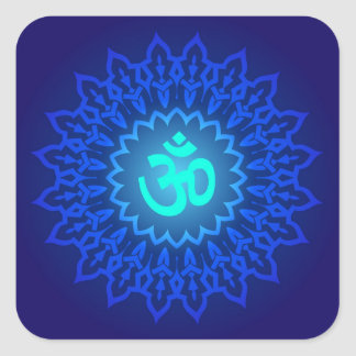 Decorative Om Design Square Sticker
