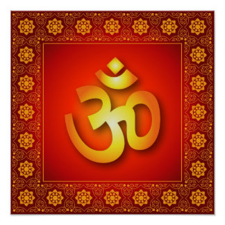 Decorative Om Poster