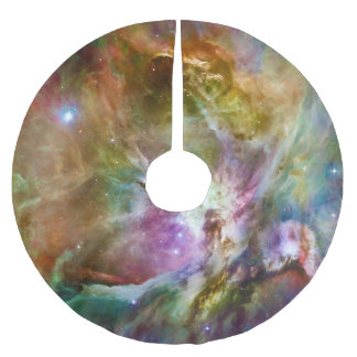 Decorative Orion Nebula Galaxy Space Photo Brushed Polyester Tree Skirt