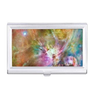 Decorative Orion Nebula Galaxy Space Photo Business Card Holder