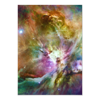 Decorative Orion Nebula Galaxy Space Photo Card