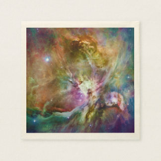 Decorative Orion Nebula Galaxy Space Photo Disposable Napkin