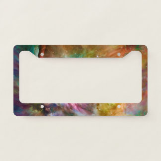Decorative Orion Nebula Galaxy Space Photo License Plate Frame