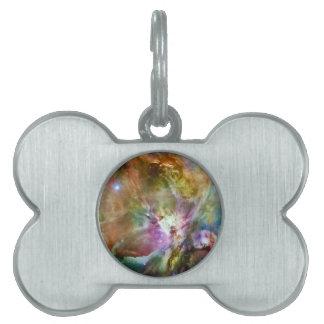 Decorative Orion Nebula Galaxy Space Photo Pet Name Tag