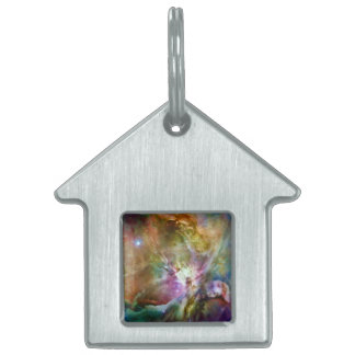 Decorative Orion Nebula Galaxy Space Photo Pet Tag