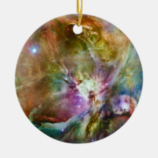 Decorative Orion Nebula Galaxy Space Photo Round Ceramic Ornament