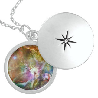 Decorative Orion Nebula Galaxy Space Photo Sterling Silver Necklace