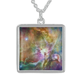 Decorative Orion Nebula Galaxy Space Photo Sterling Silver Necklace