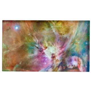 Decorative Orion Nebula Galaxy Space Photo Table Card Holders