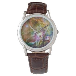 Decorative Orion Nebula Galaxy Space Photo Watch
