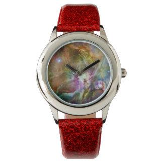 Decorative Orion Nebula Galaxy Space Photo Wrist Watch