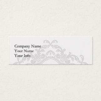Decorative Ornamental Border Black & White Mini Business Card
