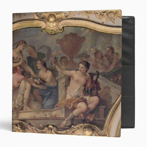Decorative panel from the Oval Salon Vinyl Binder