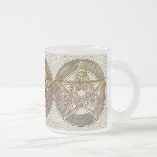 Decorative Pastel Lilac Pentacle Mugs