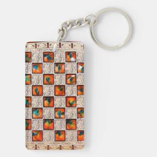 Decorative Patron Rectangle-double-sided-Key-chain Double-Sided Rectangular Acrylic Keychain