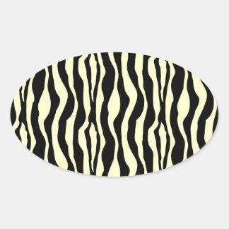 Decorative pattern oval sticker