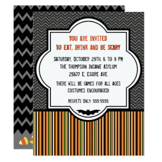 Decorative Patterns Halloween Invitation