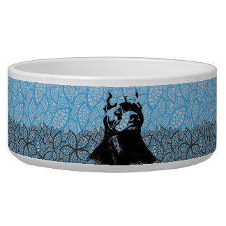 DECORATIVE PIT BULL DOG BOWL