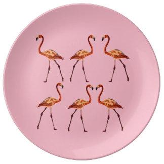 Decorative Porcelain Plate Flamingo