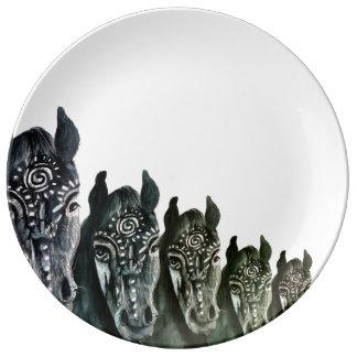 Decorative Porcelain Plate Horses