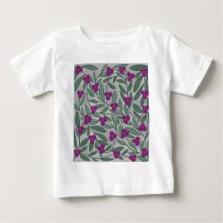 Decorative purple floral pattern baby T-Shirt