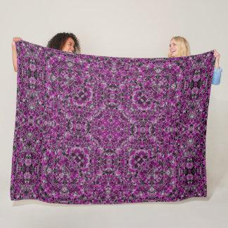 Decorative Purple Skulls Satin Foulard Mandala Fleece Blanket