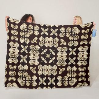 Decorative Reaper Bones Satin Mandala Fleece Blanket