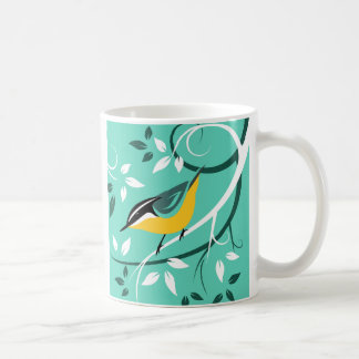 Decorative Red Breasted Nuthatch Art Coffee Mug