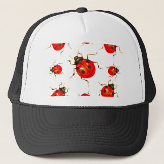DECORATIVE RED LADY BUG GIFTS TRUCKER HAT
