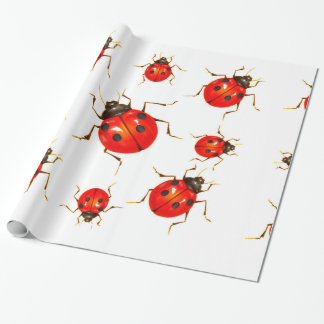 DECORATIVE RED LADY BUG GIFTS WRAPPING PAPER
