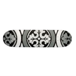 Decorative Renaissance Rosette Tile Design Skate Board Deck