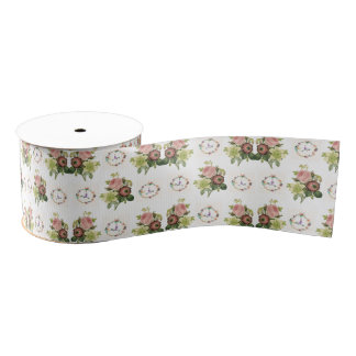 decorative ribbon floral grosgrain ribbon