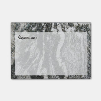 Decorative Rock Texture with any Text Post-it Notes