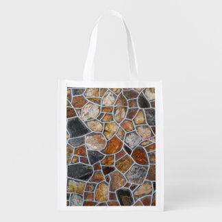 Decorative Rock Wall Reusable Grocery Bag