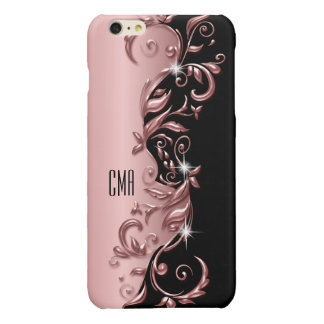 Decorative Rose Gold Ornate Design | Monogram