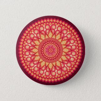 Decorative round tribal ethnic ornament 2 inch round button