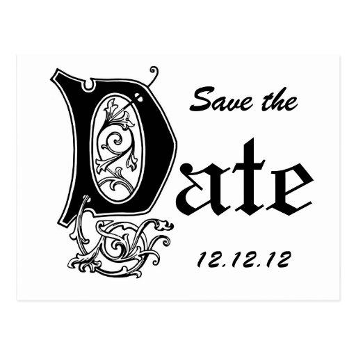Decorative Save the Date Postcards