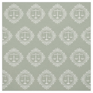 Decorative Scales of Justice | Law Gifts Fabric