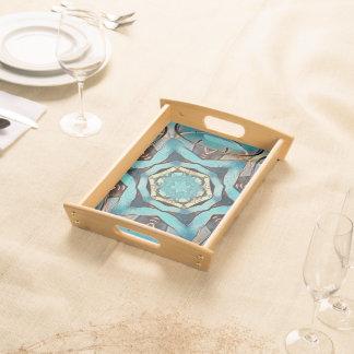 Decorative serving tray