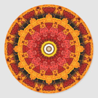Decorative Slices of Orange Classic Round Sticker