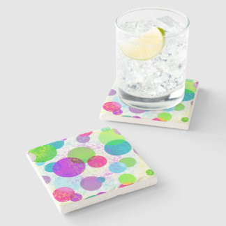 Decorative spot stone coaster
