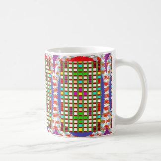 Decorative Squared Checks Artistic Greetings Gifts Coffee Mugs