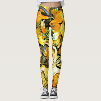 Decorative Squash and Gourds Halloween Leggings