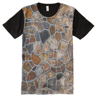 Decorative Stone Wall All-Over-Print T-Shirt
