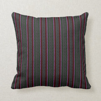Decorative stripe throw pillow - gray/red