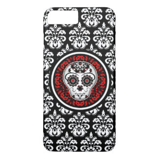Decorative sugar skull with damask iPhone 8 plus/7 plus case