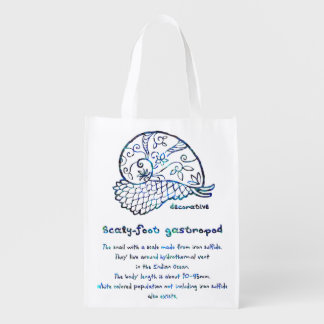 < Decorative sukerihutsuto (blue mother-of-pearl Reusable Grocery Bag