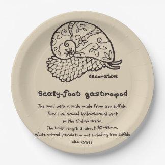 < Decorative sukerihutsuto (it burns, brown) > Paper Plate