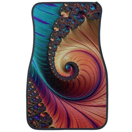 Decorative Swirl Design Set of 2 Front Car Mats Car Carpet