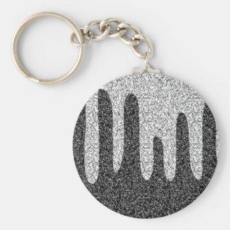Decorative texture basic round button keychain
